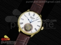 Senator Meissen Tourbillon YG White Dial on Brown Leather Strap