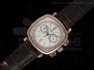 Ladies Complicated Watches 7071 RG Quartz White on Brown Strap