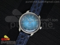 Senator Automatic SS Light Blue Dial on Blue Leather Strap A3959