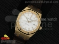 Royal Oak 41mm 15400 Lite RG Silver Dial on Brown Leather Strap A3120