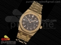 Lady Royal Oak 33mm RG JF 1:1 Best Edition Brown Textured Dial on RG Bracelet Swiss Quartz