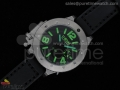 U42 Ti Black Dial Green Mark on Black Leather Strap 52mm A6497