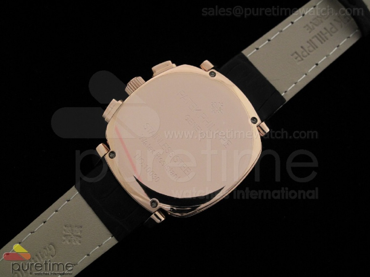 Ladies Complicated Watches 7071 RG Quartz White on Black Strap