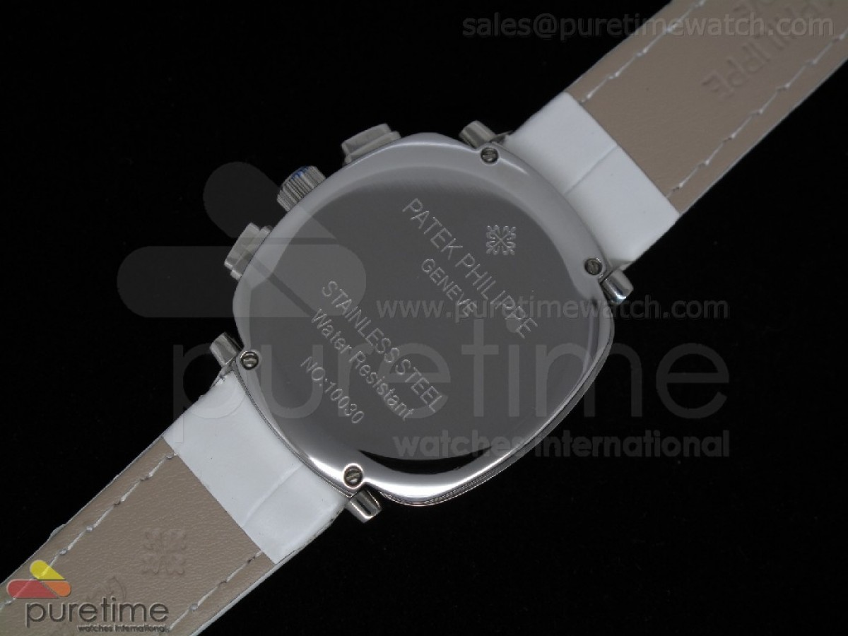 Ladies Complicated Watches 7071 SS Quartz White on White Strap